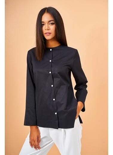 Eda Atalay Uzun Kollu Gömlek Siyah